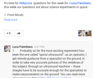 #AskLuca: Experiments on the ISS