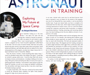 Sharing My Space Camp Experiences With Johns Hopkins' Imagine Magazine