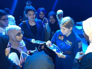 astronaut abby UAE Tour with students