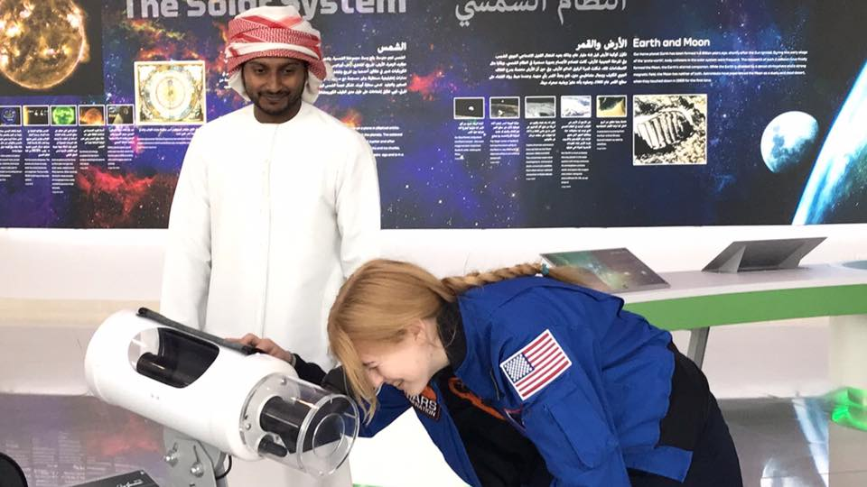 astronaut abby sharjah center for astronomy and sciences