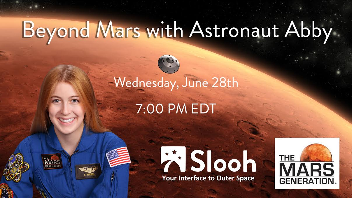 Astronaut Abby Slooh Saturn The Mars Generation Show