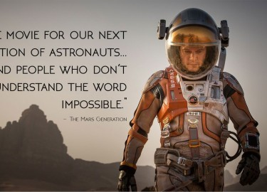 "The Martian: For people who don't understand the word ""impossible"""
